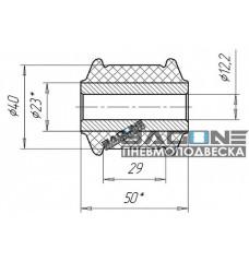 Сайлентблок заднего амортизатора ВАЗ-2108-10
