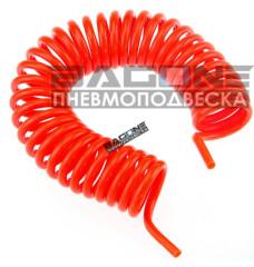 Шланг витой для подкачки колес (красный) 12м